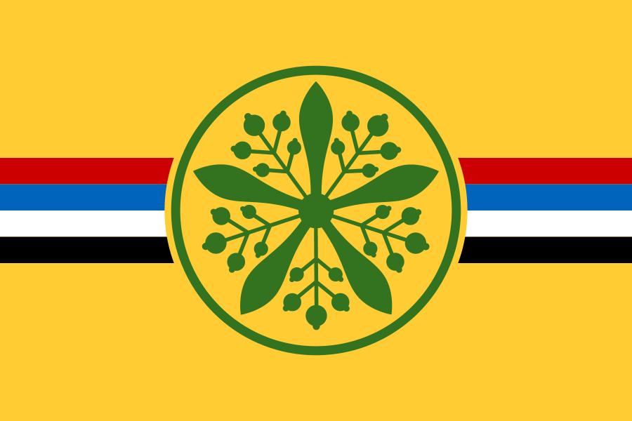 滿洲國國徽旗
